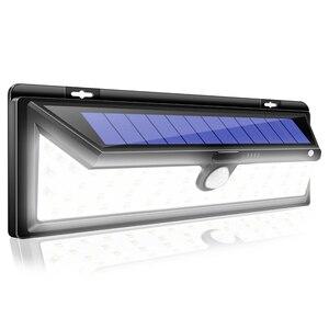CHIZAO 54 LED Solar Power Wall Light PIR Motion Sensor Lamps Three Modes Waterproof Lamp Street Lights Garden Security Lamp