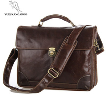 Italy imports leather briefcase, multifunctional men's handbag, genuine leather  Fashion bag for men 7091c