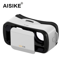 New VR BOX III 3.0 LEJI Mini Virtural Reality 3D Glasses VR Head Mounted 3D Headset for 4.5-5.5 inch Smart Phone Private Theater