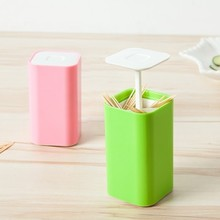 Creative hand pressure automatic toothpick extinguishers portable toothpick box Home sitting room color press type cotton candy