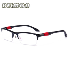 Eyeglasses AL-MG Spectacle FrameMen Computer Optical Eye Clear Lens Glasses Frame For Male Transparent Armacao Oculos de RS121