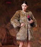 Hot Sale Ladies Luxury Fur Coat Long Oversized Hooded Fur Jacket 2017 Winter Faux Fur Fluffy