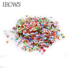 50g/bag Colorful Sequins Pierced Knurling Shell Flatback Resin Sequins DIY Garment Bags Sewing for Crafts&Paillette Materials 5meters 17colors connecting strip with diy sequins handicraft pearl sequins garment connecting strip with diy sequins