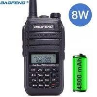 Baofeng UV B9 8W Powerful 8watts walkie talkie 10 km long range cb radio comunicador outdoor Two Way Radio for hunting + headset