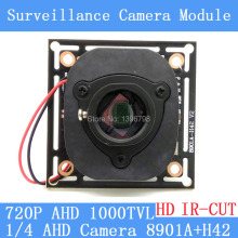 HD AHD CMOS 1000TVL camera module surveillance cameras 8901A+H42 PCB Board PAL / NTSC Optional+ HD IR-CUT dual-filter switch