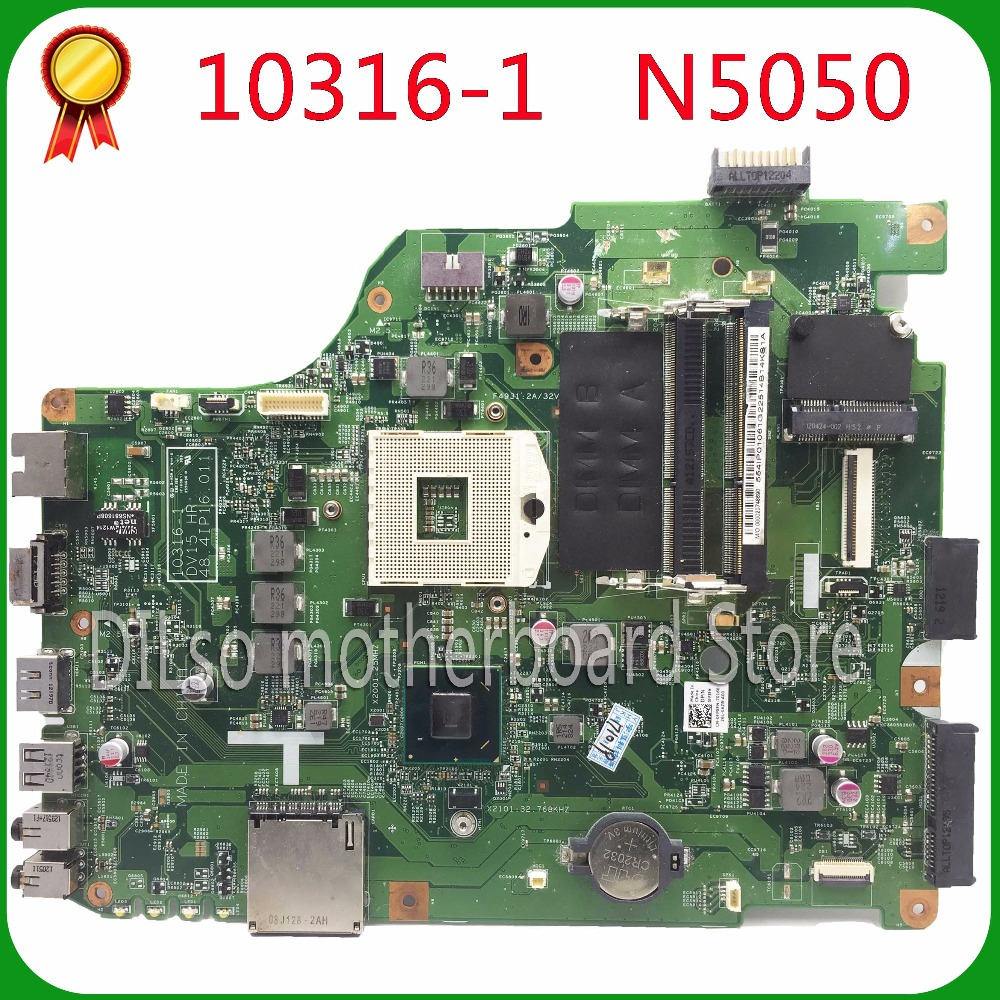 KEFU 10316-1 For Dell N5050 Laptop Motherboard 10316-1 DV15 HR 48.4IP16.011 Motherboard Integrated HM67 Original Test 100%
