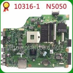 KEFU 10316 1 dla Dell n5050 laptopa płyty głównej płyta główna w 10316 1 DV15 HR 48.4IP16.011 płyty głównej zintegrowany HM67 oryginalny testowany 100% w Płyty główne od Komputer i biuro na