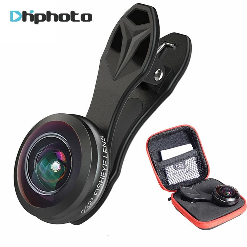 Universal Updated 238 Degree Super Fisheye Lens APEXEL 0 2X Full Frame Mobile Phone Camera Lens