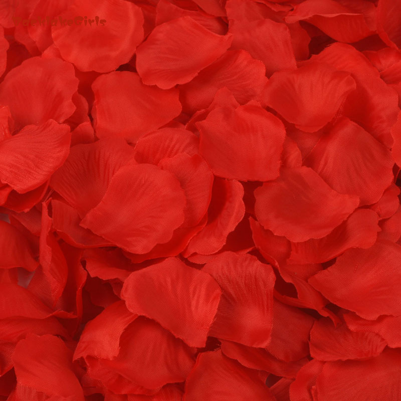Rose Petals 1000 Artificial Silk Wedding Party Decorations Aisle Runners Girl Tossing Table Wedding Flower Petal