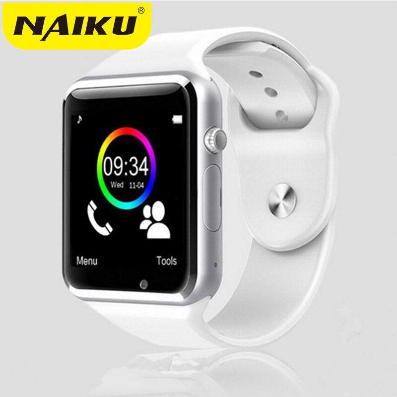 NAIKU A1 reloj inteligente con Passometer Cámara tarjeta SIM llamada Smartwatch para Xiaomi Huawei HTC teléfono Android mejor que Y1 DZ09