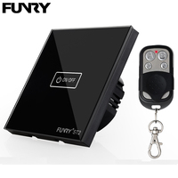 Funry ST2 EU 1Gang Smart Touch Switch Crystal Tempered Glass Surface Waterproof Fireproof Remote Control Intelligent