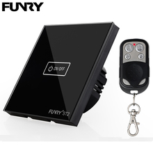 Funry ST2 EU 1Gang Smart Touch Switch Crystal Tempered Glass Surface Waterproof/Fireproof Remote Control Intelligent Interruptor