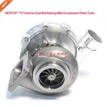 Mertop T72 T4 турбо двойной керамический шаровой подшипник рабочее колесо компрессора масляный& водяного охлаждения Турбокомпрессор 700-1100HP
