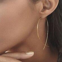 купить Original Fish Shaped Drop Earrings Simplicity Handmade Copper Wire Earring for Women Brincos de gota Feminino 2018 Geometric NEW по цене 25.74 рублей