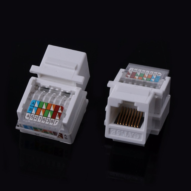 Awesome 5Pcs Lot Utp Rj45 Cat5E Module Tool Free Socket Module For Network Wiring Database Gentotyuccorg