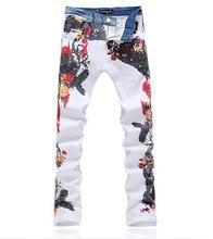 Горячая распродажа новые 2015 мужчин робин джинсы печатные джинсы мужчин высокая мода джинсы Homme мужские джинсовые комбинезоны размер 28 — 38