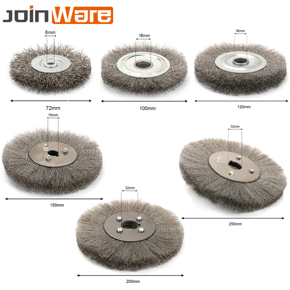 1PC 72 250mm Steel Flat Wire Wheel Brush For Bench Grinder Polish ...