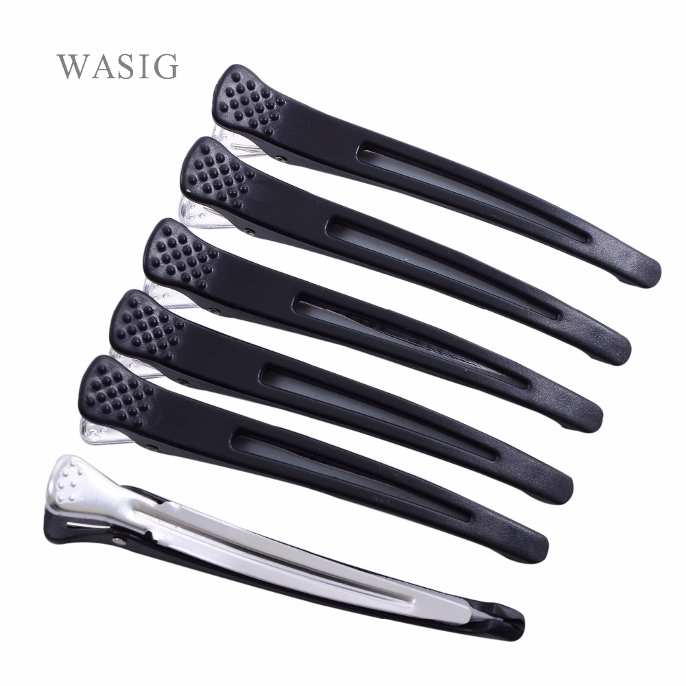 6pcs Holding Hair Styling Section Clip Hair Clips Duck Mouth Salon Hairdressing Clips Flat Accessories Hair Cutting Tools