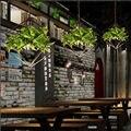 Moderne Ländlich Grün Pflanzen Hängen Leuchte Kronleuchter Balkon Decke Lampe Droplight Licht Schlafzimmer Lesen Wohnkultur Geschenk-in Kronleuchter aus Licht & Beleuchtung bei