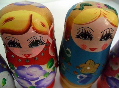 I Miss You Russian Wooden Nesting Doll 5piece Matryoshka Matroshka