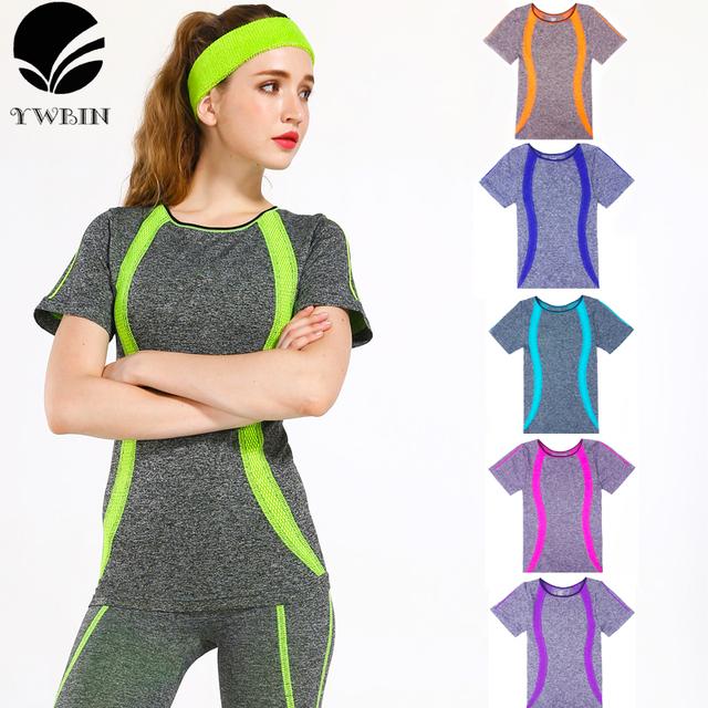 Fitness Yoga Shirts Women | Stripes top Gym Compression