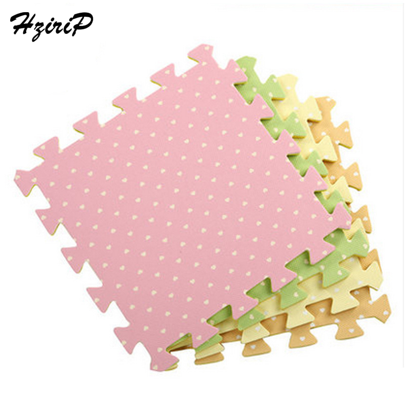 HziriP Baby Foam Play Puzzle Mat 6PCS Interlocking Exercise Floor Carpet Rug For Kid Printing Heart-Shaped Floor Mats 30X30X1CM ...