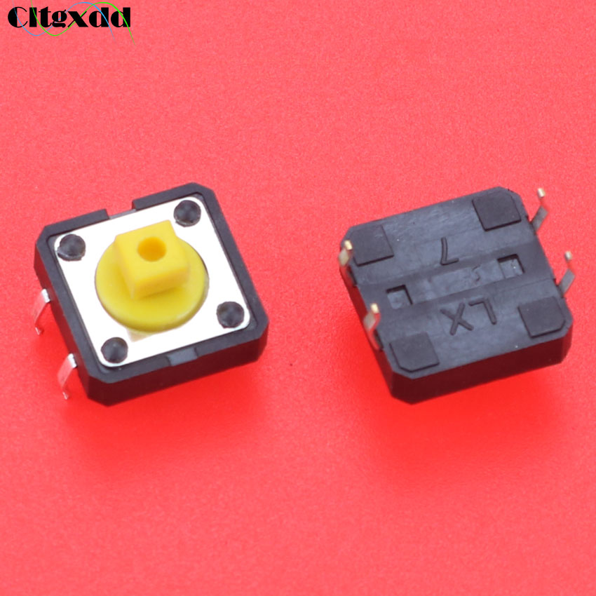 5PCS 12X12X7.3 Tactile Push Button Switch Momentary Tact LED GX