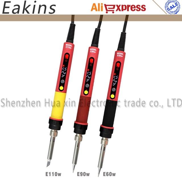 Spina ue LCD digitale regolabile termostato NC saldatore elettrico CXG E60W E90W E110W per strumenti di riparazione di saldatura efficienti