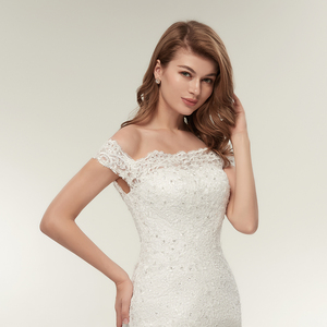 Image 5 - Fansmile Real Photo Vestidos De Novia Vintage Kant Mermaid Wedding Dress 2020 Plus Size Bruidsjurken Robe De Mariage FSM 165M