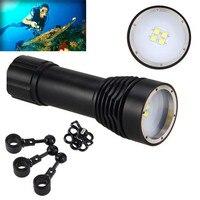flashlight accesorios 8000LM 4x XML L2 LED Underwater 100M Scuba Diving Flashlight Torch 26650 Lamp bicycle lamp 170724 P30