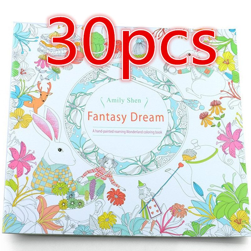 30pcs fantasy dream antistress coloring book children adult relieve stress painting antistress wholesale coloring iibros - Wholesale Coloring Books