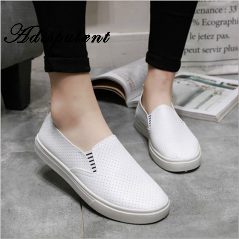 Adisputent Women Vulcanized Shoes Summer Slip On Shallow Casual Sneakers Loafers Soft Hollow Out Female Solid Flats Casual ShoesAdisputent Women Vulcanized Shoes Summer Slip On Shallow Casual Sneakers Loafers Soft Hollow Out Female Solid Flats Casual Shoes