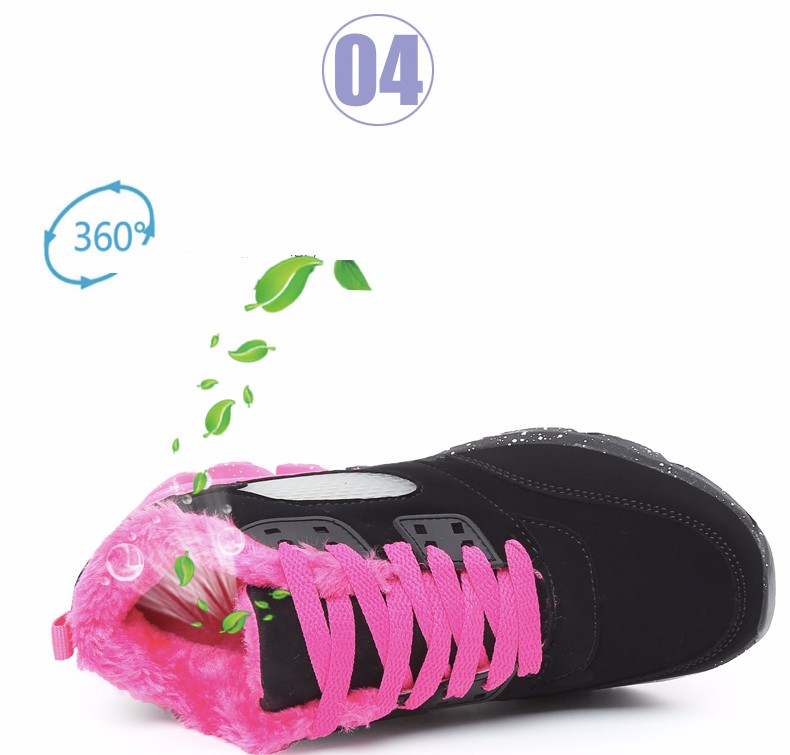 2017 Fashion Winter Women Casual Shoes Plush Warm Sport Low Top Women Shoes Black Pink Breathable Lace Up Woman Trainers YD165 (10)