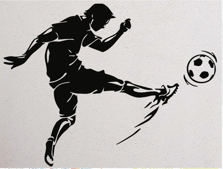 Football Vinyl Wall Decal Sport Soccer Football Player Mural Art Wall Sticker Boys Bedroom