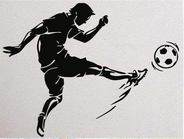 Sepak Bola Dinding Vinyl Decal Olahraga Pemain Mural Wall Art Sticker