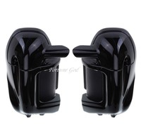 High Quality Vivid Black Painted Leg Fairing Lower Vented For Harley Touring HD Road King Electra Glide FLHR