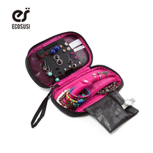 ФОТО ECOSUSI  Travel Accessories Bags Women Cosmetic Bag Jewelry Holder Necklace Bracelet Ear Ring Pouch Bag Jewelry Packing Bags