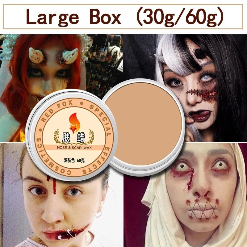 narices de Cera de Maquillaje de Halloween Cera de Modelado de Cera de Cicatriz Cicatriz Falsa Herida Cera de Piel Cera de Pintura Corporal para Efectos Especiales Dowoa Cera de Cicatriz