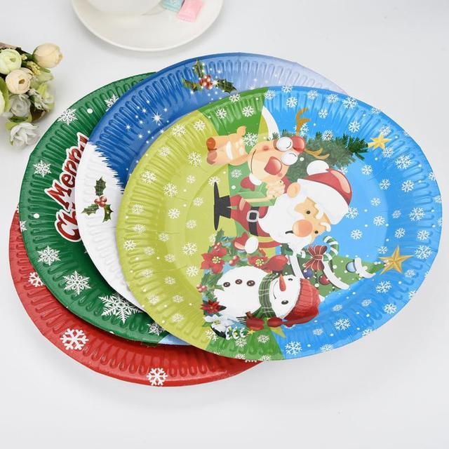 10 Pcs Christmas Santa Paper Plates Festive Supplies Party Tissue Christmas Decor Random Colors Cozinha Kitchen  sc 1 st  AliExpress.com & 10 Pcs Christmas Santa Paper Plates Festive Supplies Party Tissue ...
