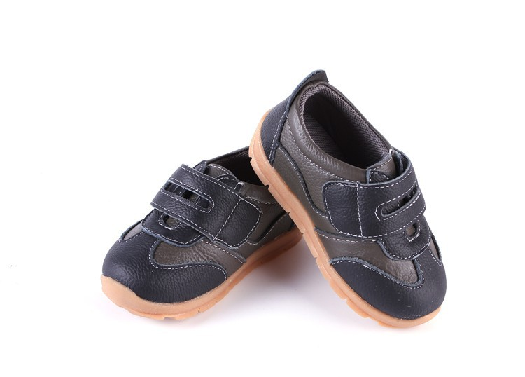 SandQ baby Boys sneakers soccers shoes girls sneakers Children leather shoes pink red black navy genuine leather flexible sole 28