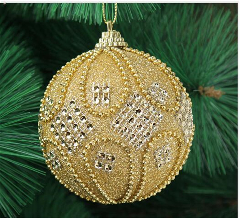 8cm sticky diamond beads high end christmas ball baubles xmas party wedding hanging ornament. Black Bedroom Furniture Sets. Home Design Ideas