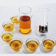 Creative 200ml  Heat-resistant  Puerh Black Oolong Tea Infuser Glass Teapot Kungfu Tea Pot Free Shipping цена