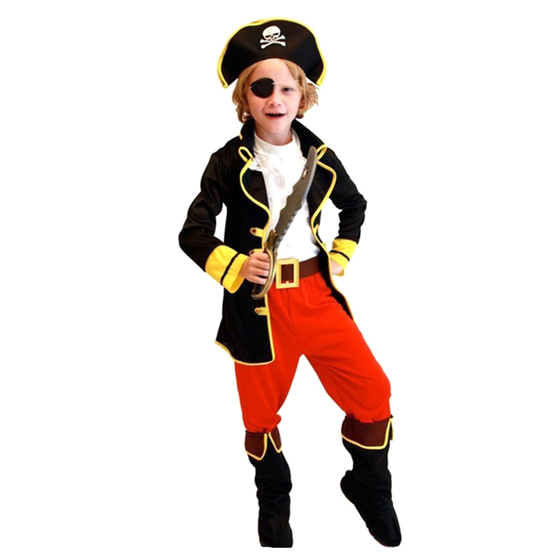 barn pojkar pirat kostymer / cosplay kostymer för pojkar / halloween - Maskeradkläder och utklädnad - Foto 4