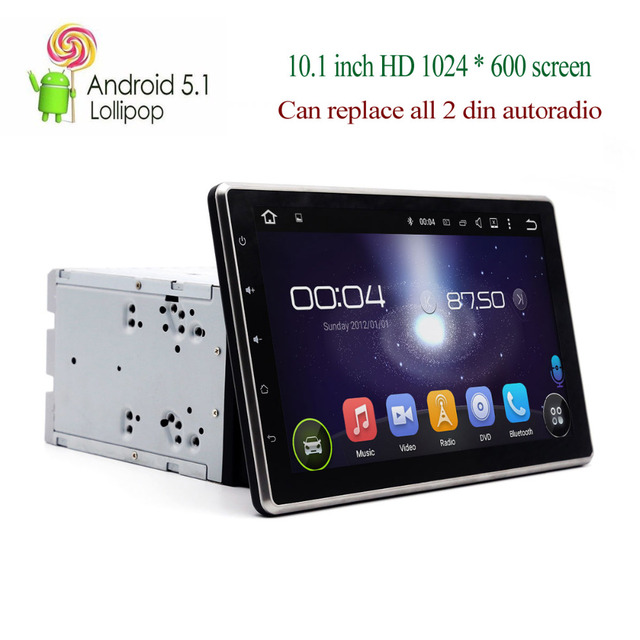 Double din car stereo with built in bluetooth