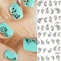 Leopard Tiger Design Transfer Nail Water Sticker 2 Style Animal Pattern Nail Art Stickers  Manicure Decals