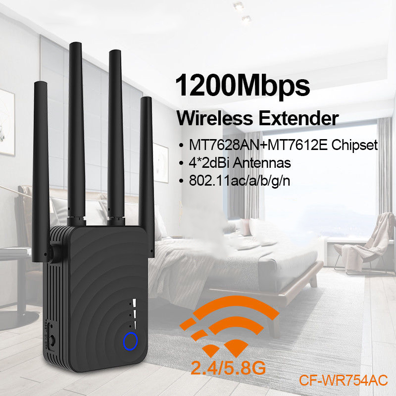 1200Mbps Wireless Wifi Extender Repeater Router Dual Band With Antenna Signal Amplifier