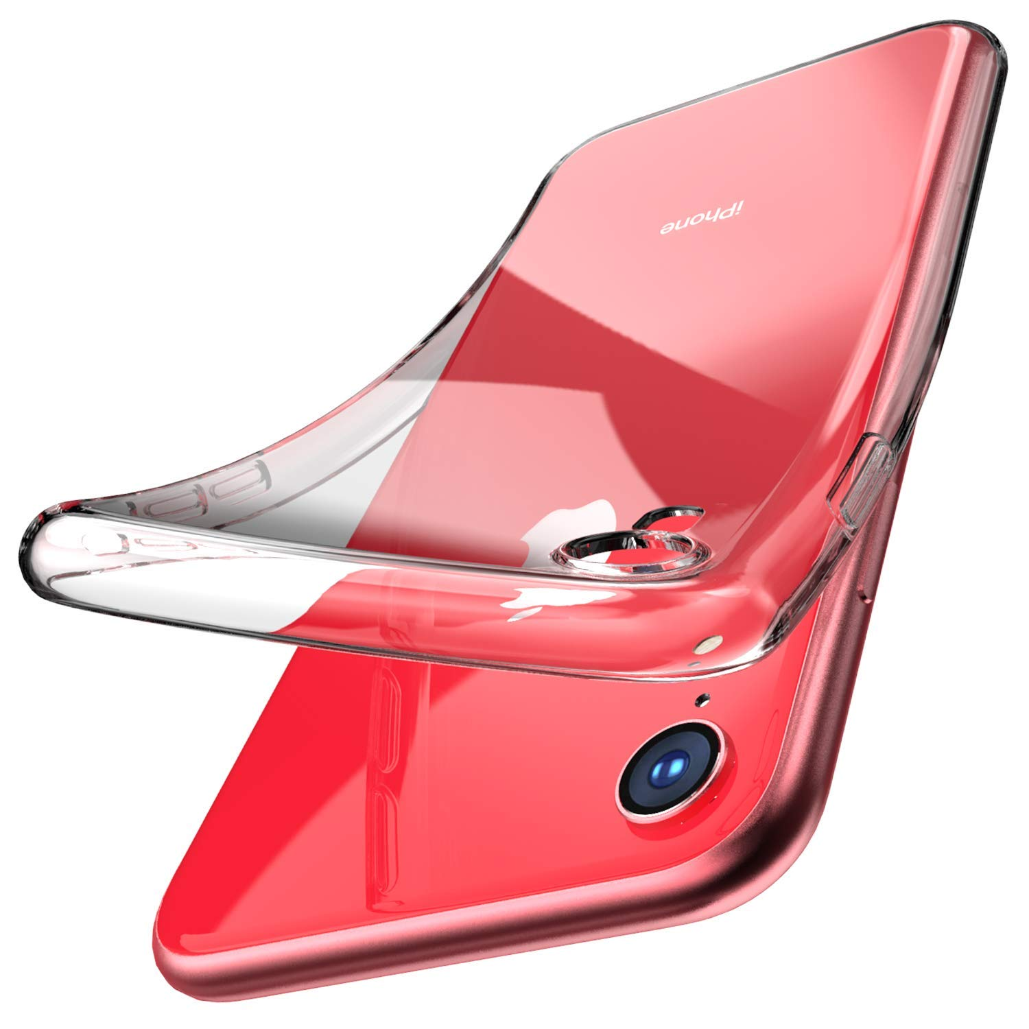 Slim Thin Clear Soft For <font><b>iPhone</b></font> XR XS Max X <font><b>Case</b></font> Premium Flexible Chrome <font><b>Bumper</b></font> Transparent TPU Back Plate Cover For <font><b>iPhone</b></font> 8 7 image