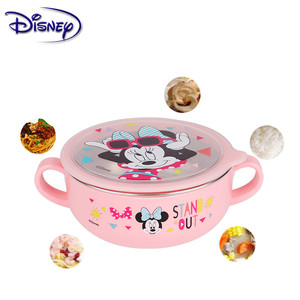 Image 4 - Disney Childrens 6 piece Stainless Steel Cutlery Sets Popular Cartoon Seven Piece Baby Food Supplement Plate Cup Spoon Fork Set
