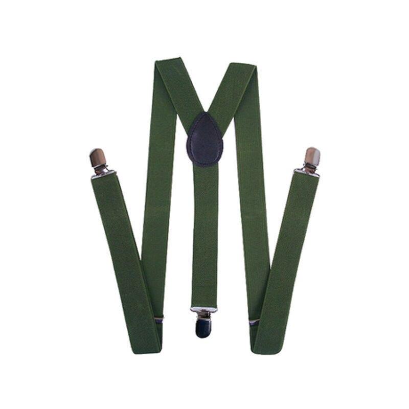 Новинка, 15 цветов, унисекс, для мужчин и женщин, на клипсах, подтяжки, эластичные, y-образные, регулируемые подвязки, подтяжки, пояс, ткань, аксессуары - Цвет: Army green