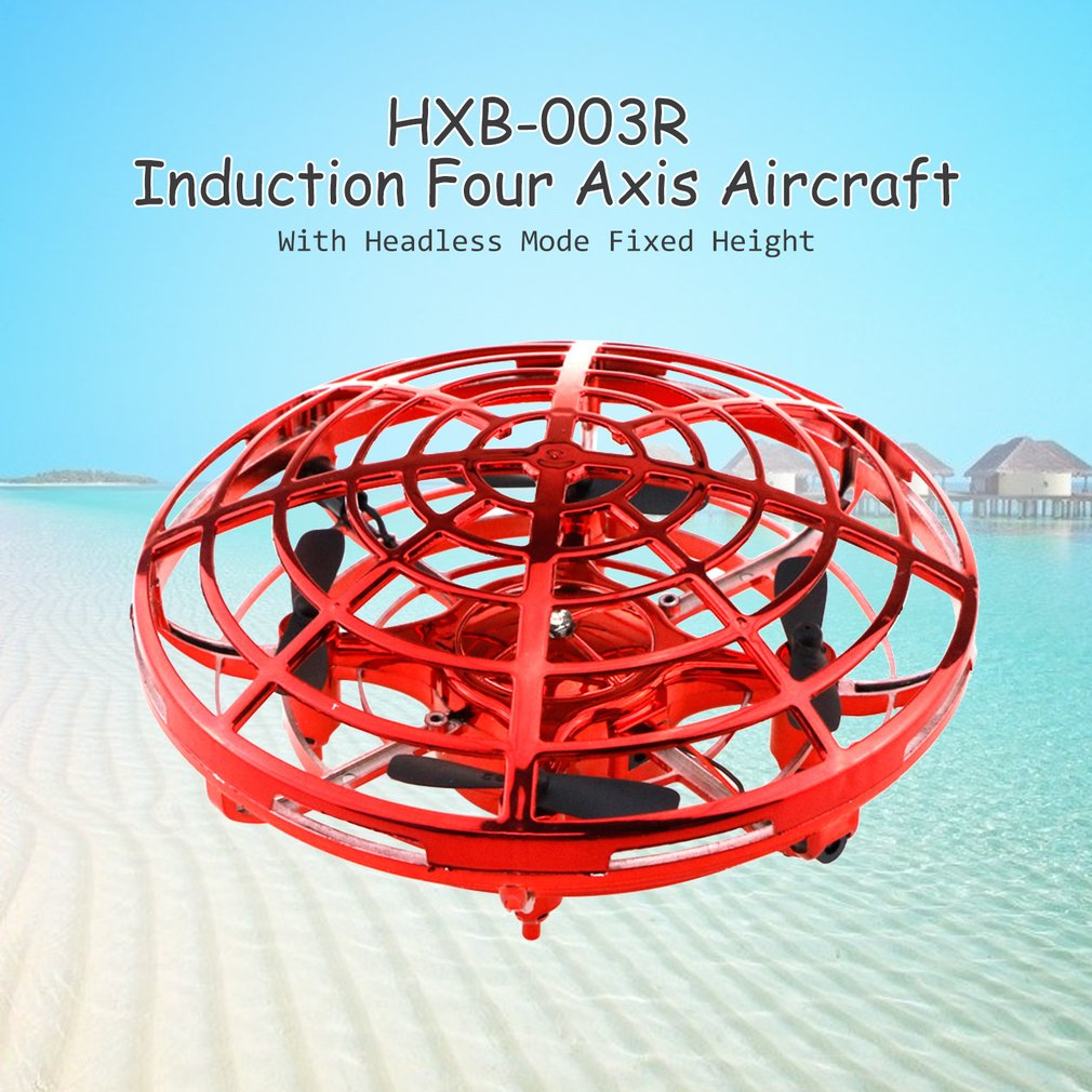 IR Induction RC Helicopter Infrared Induction Headless Mode Drone Fixed Height RC Induction Speed Regulation Four Axis Aircraft